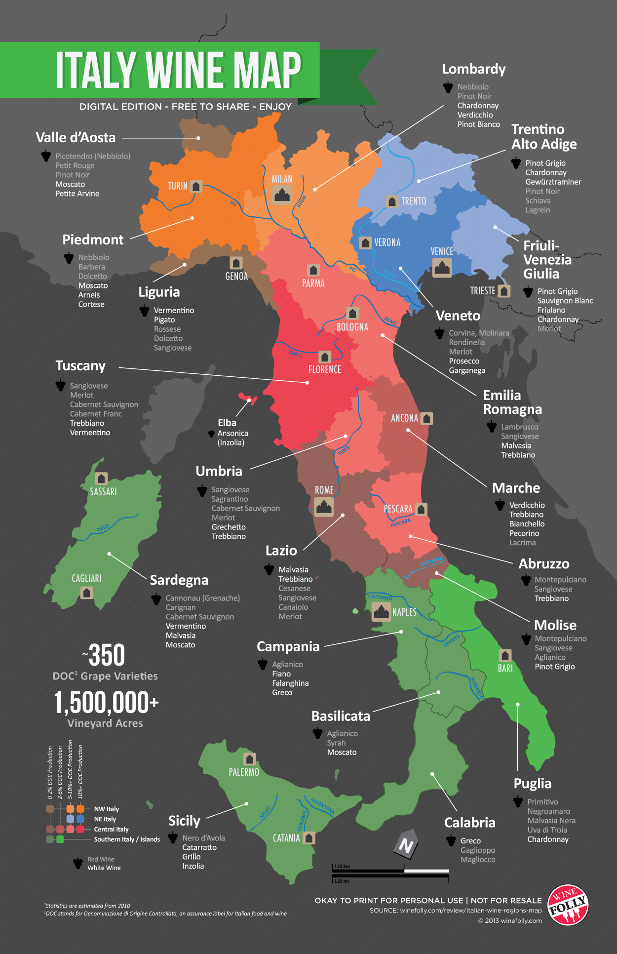 italy wine map wine folly – Traveling By The Glass