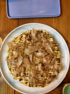 okonomiyaki-with-pickled-ginger-and-katsobushi