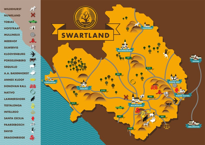 Swartland Map for print